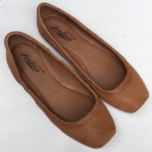 Lucky Brand Brown Leather Flats EUC